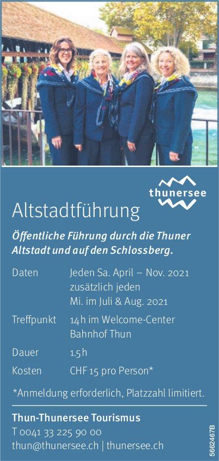 Thun-Thunersee Tourismus - Altstadtführung: Öffentliche Führung durch die Thuner Altstadt und auf den Schlossberg