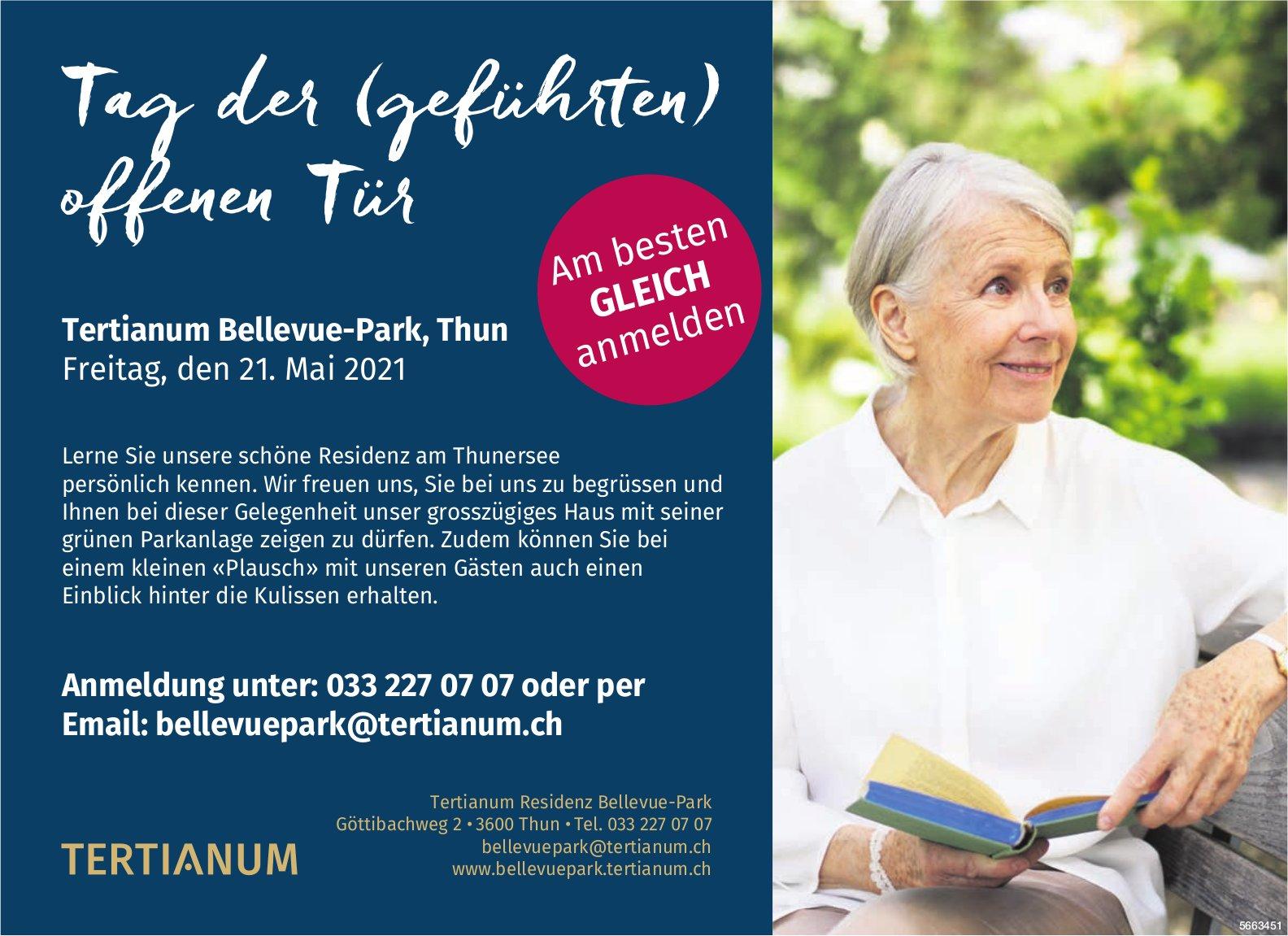 Tag der (geführten) offenen Tür, 21. Mai, Tertianum Residenz Bellevue-Park, Thun