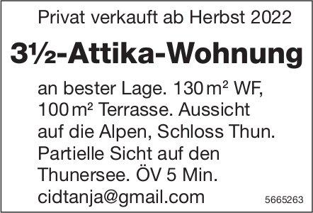 3½-Attika-Wohnung, Thun, zu verkaufen