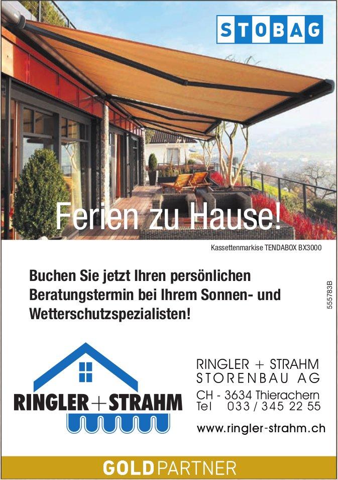 Ringler + Strahm Storenbau AG, Thierachern - Ferien zu Hause!