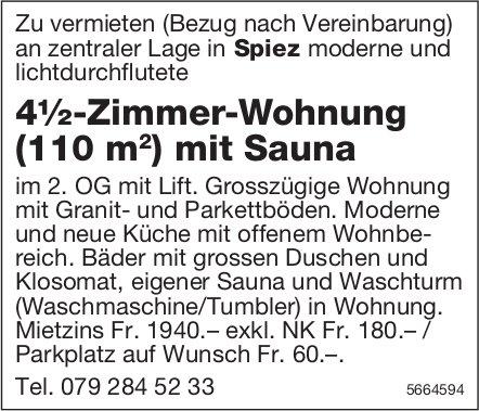 4½-Zimmer-Wohnung (110 m2 ) mit Sauna, Spiez, zu vermieten