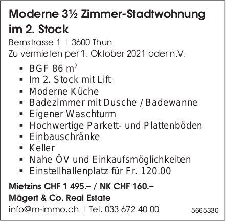 Moderne 3½ Zimmer-Stadtwohnung im 2. Stock, Thun, zu vermieten