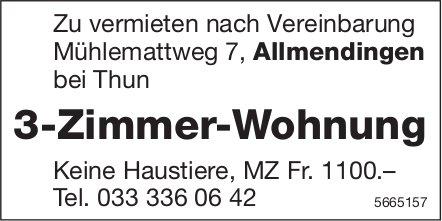 3-Zimmer-Wohnung, Allmendingen bei Thun, zu vermieten