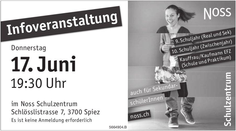 Infoveranstaltung, 17. Juni, Noss Schulzentrum, Spiez