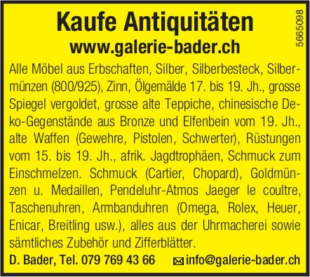 Galerie Bader - Kaufe Antiquitäten