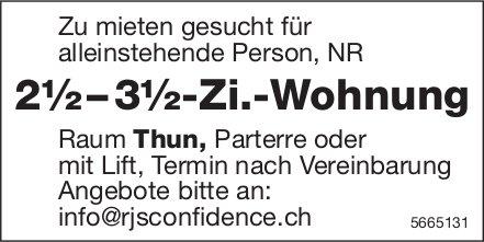 2½ – 3½-Zi.-Wohnung, Raum Thun, zu mieten gesucht