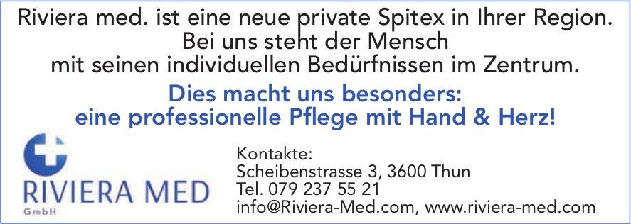 Riviera Med., Thun - Bei uns steht der Mensch mit seinen individuellen Bedürfnissen im Zentrum.