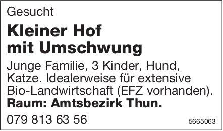 Kleiner Hof mit Umschwung, Amtbezirk Thun, zu mieten gesucht