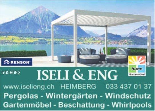 Iseli & Eng, Heimberg - Pergolas, Wintergärten, Windschutz, Gartenmöbel, Beschattung, Whirlpools