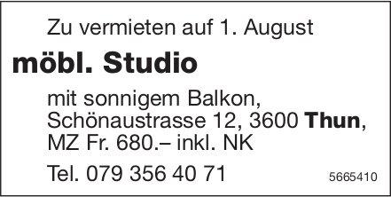 Möbl. Studio, Thun, zu vermieten