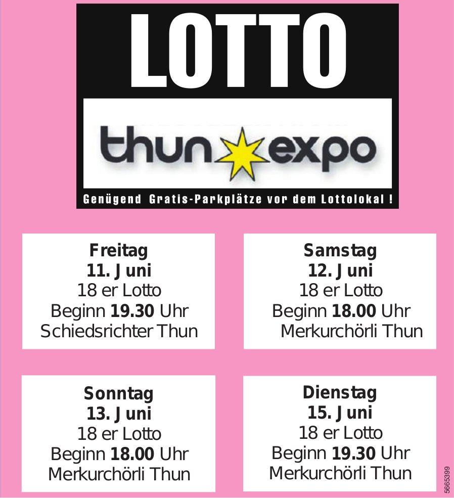 LOTTO Thun Expo, 11./12./13./15. Juni