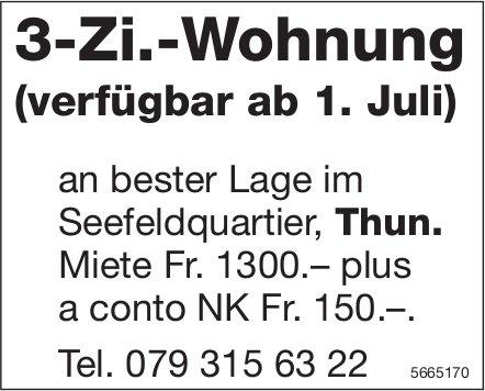 3-Zi.-Wohnung, Thun, zu vermieten