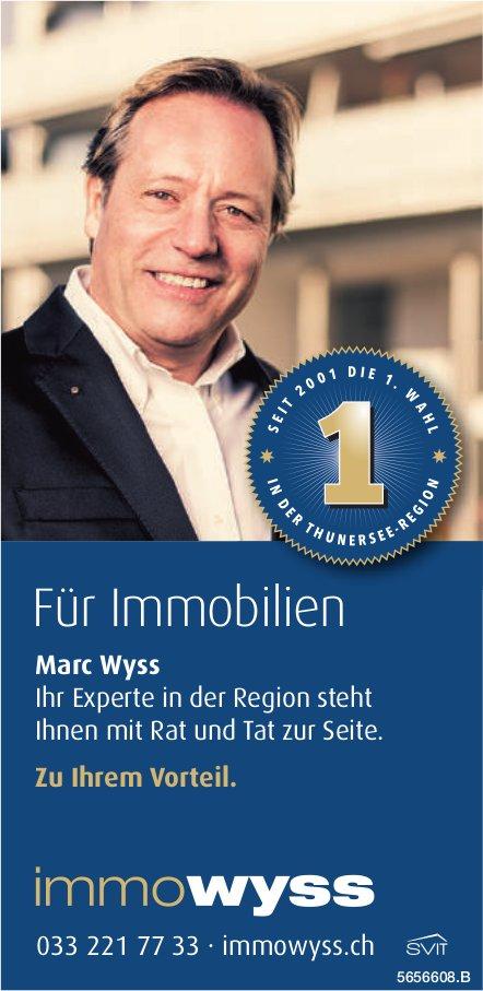 Immowyss - Für Immobilien Marc Wyss steht Ihnen mit Rat und Tat zur Seite.