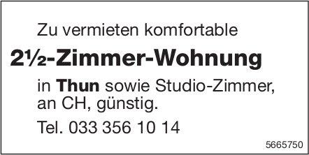 2½-Zimmer-Wohnung, Thun, zu vermieten