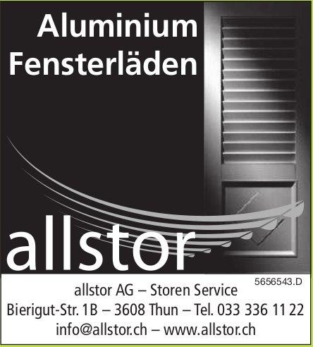 Allstor AG – Storen Service, Thun - Aluminium Fensterläden