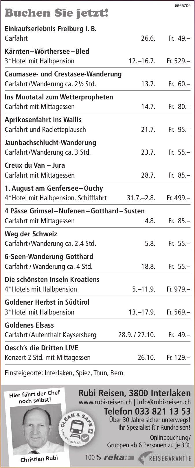 Rubi Reisen, Interlaken - Buchen Sie jetzt!