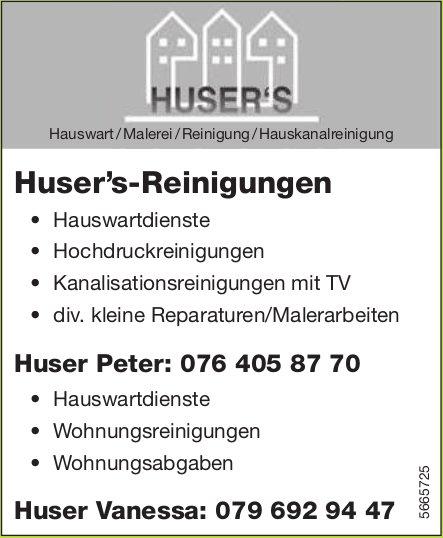 Huser's-Reinigungen - Hauswart/Malerei/Reinigung/Hauskanalreinigung