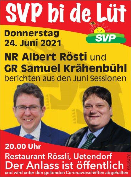 SVP bi de Lüt, 24. Juni, Uetendorf