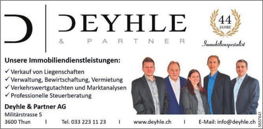 Deyhle & Partner AG, Thun - Unsere Immobiliendienstleistungen