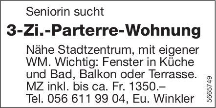 3-Zi.-Parterre-Wohnung, zu mieten gesucht