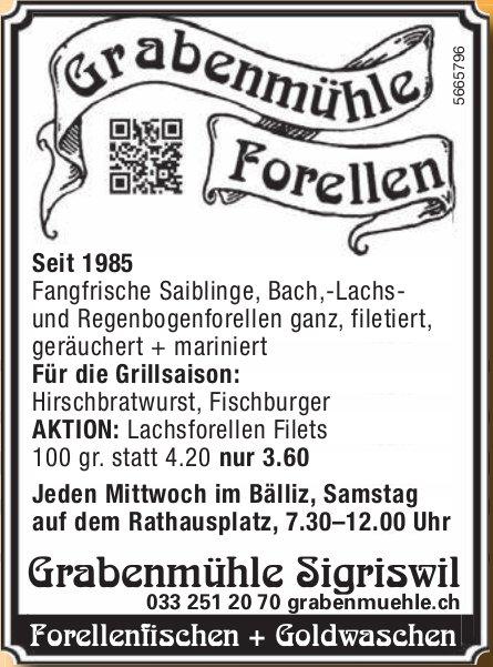 Grabenmühle, Sigriswil - Forellenfischen + Goldwaschen
