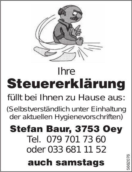 Stefan Baur, Oey - Füllt Ihre Steuererklärung bei Ihnen zu Hause aus