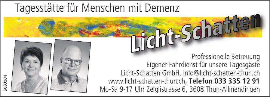 Licht-Schatten GmbH, Thun - Tagesstätte für Menschen mit Demenz mit Demenz