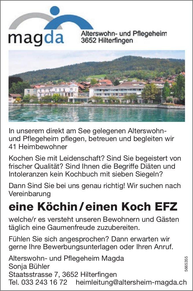 Köchin / Koch EFZ, Alterswohn- und Pflegeheim Magda, Hilterfingen, gesucht