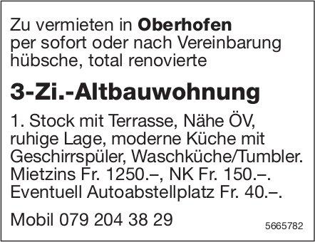 3-Zi.-Altbauwohnung, Oberhofen, zu vermieten