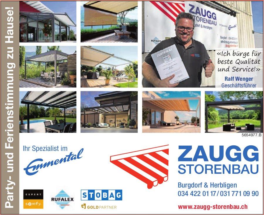 Zaugg Storenbau, Burgdorf & Herblingen - Party- und Ferienstimmung zu Hause!