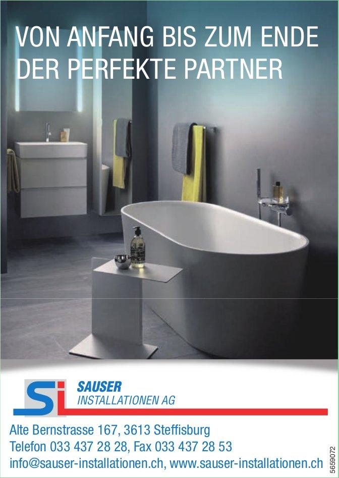Sauser Installationen AG, Steffisburg - Von Anfang bis zum Ende der perfekte Partner