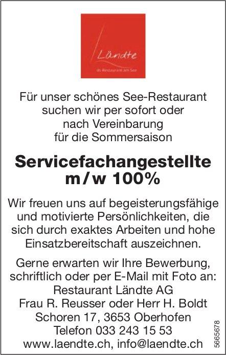 Servicefachangestellte m / w 100%, Restaurant Ländte AG, Oberhofen, gesucht