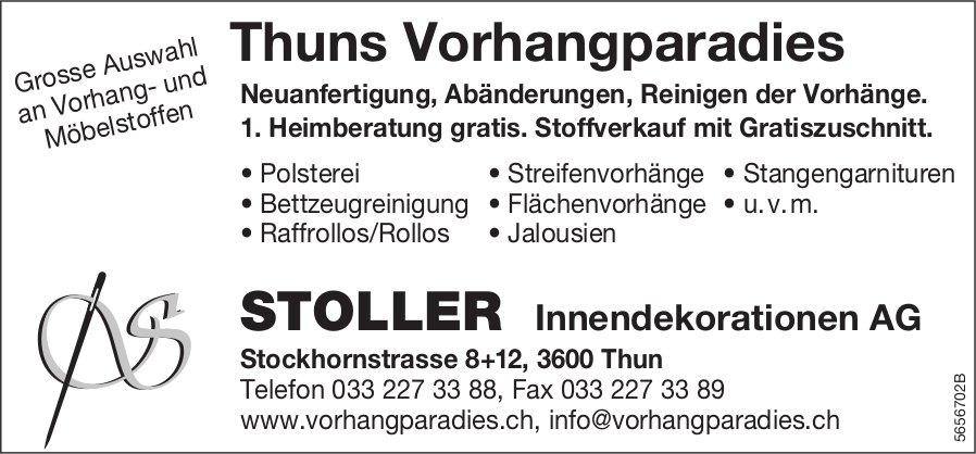STOLLER Innendekorationen AG, Thun - Thuns Vorhangparadies
