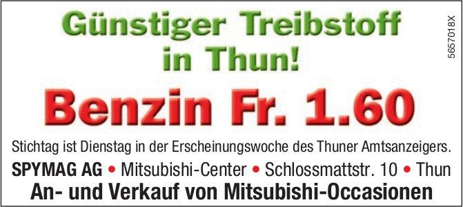 SPYMAG AG, Thun - Günstiger Treibstoff in Thun! Benzin Fr. 1.60
