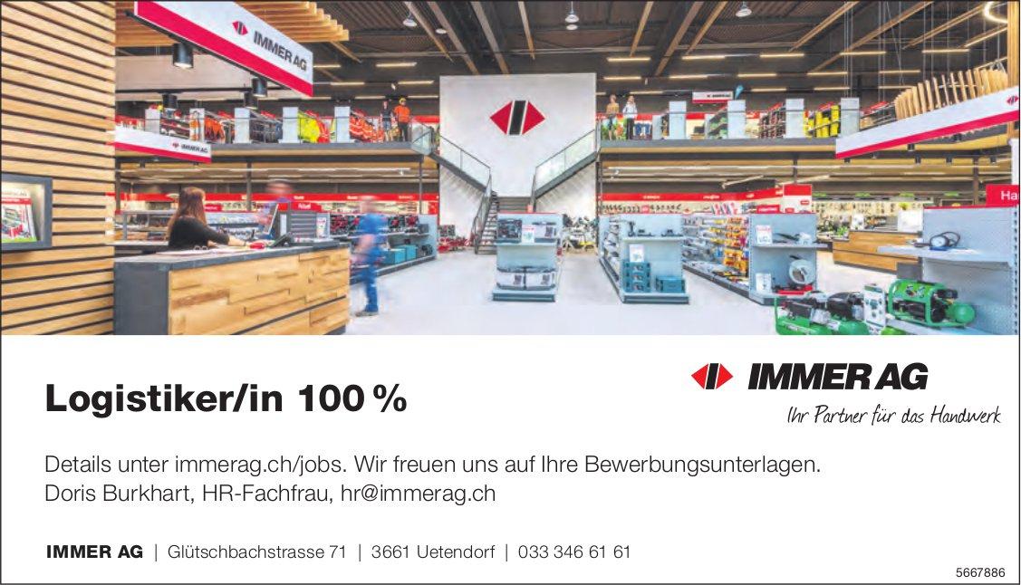 Logistiker/in 100%, Immer AG, Uetendorf, gesucht
