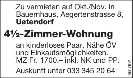 4½-Zimmer-Wohnung, Uetendorf, zu vermieten