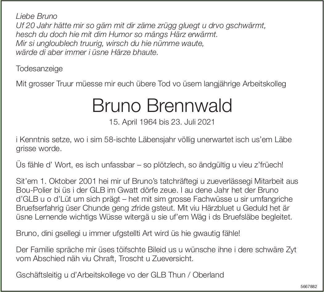 Brennwald Bruno, Juli 2021 / TA