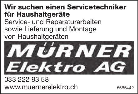 Servicetechniker für Haushaltgeräte, Mürner Elektro AG, gesucht