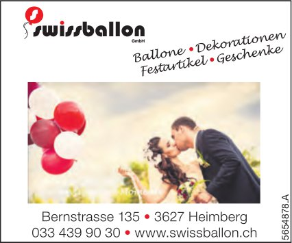 Swissballon GmbH, Heimberg - Ballone, Dekorationen, Festartikel & Geschenke