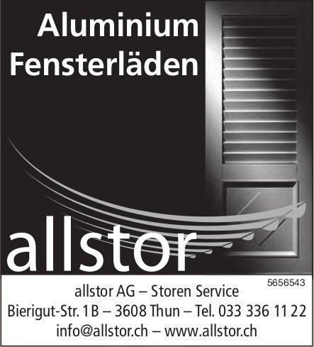 Allstor AG, Thun - Aluminium Fensterläden