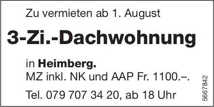 3-Zi.-Dachwohnung, Heimberg, zu vermieten