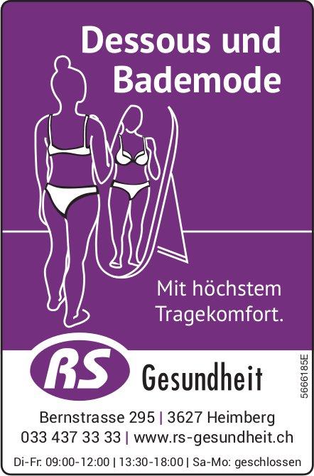 RS Gesundheit, Heimberg - Dessous und Bademode