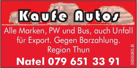 Region Thun - Kaufe Autos gegen Barzahlung