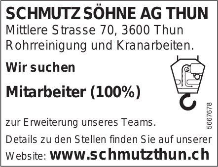 Mitarbeiter (100%), Schmutz Söhne AG, Thun, gesucht