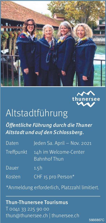 Thun-Thunersee Tourismus - Altstadtführung: Öffentliche Führung durch die Thuner Altstadt und auf den Schlossberg jeden Samstag