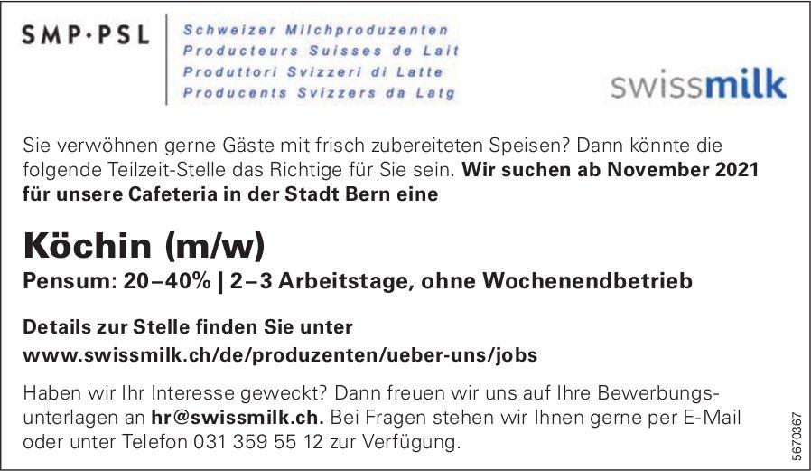 Köchin (m/w), Cafeteria Swissmilk, Bern, gesucht