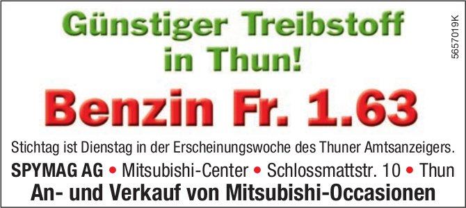 SPYMAG AG, Thun - Günstiger Treibstoff in Thun! Benzin Fr. 1.63