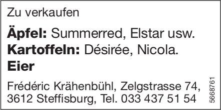 Frederic Krähenbühl, Steffisburg - Äpfel, Kartoffeln,  Eier zu verkaufen