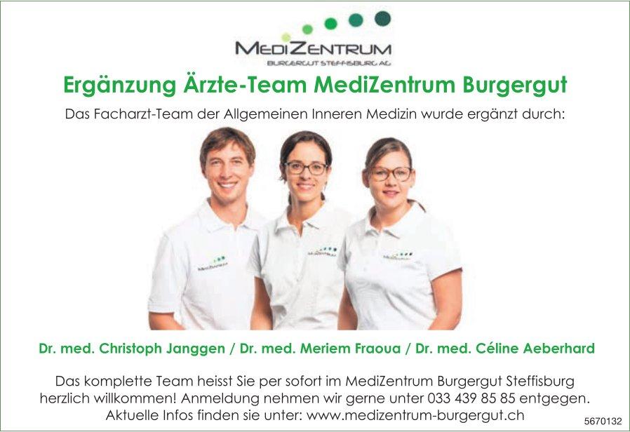 Medizentrum Burgergut, Steffisburg - Ergänzung Ärzte-Team