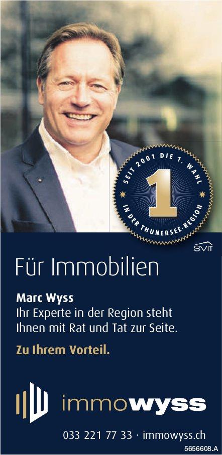 ImmoWyss - Für Immobilien Marc Wyss Ihr Experte in der Region steht Ihnen zur Seite.